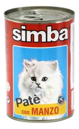 Консервы для кошек Simba Pate, паштет с говядиной, 24шт по 400г