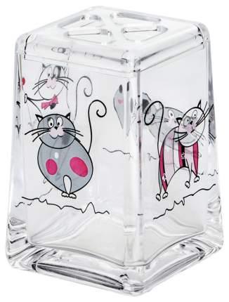 Стакан для зубных щеток Tatkraft Acryl Funny Cats 12967 Прозрачный