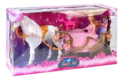 Карета для куклы Junfa Toys Карета для принцессы с лошадью