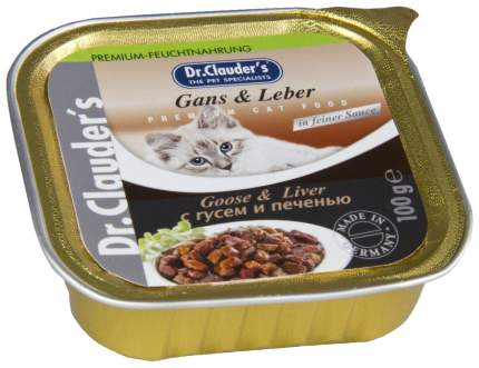 Консервы для кошек Dr.Clauder's, домашняя птица, печень, 100г