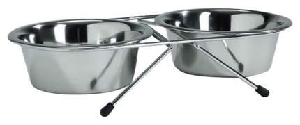 Набор мисок для собак Papillon, сталь, серебристый, 2 шт по 0.35 л