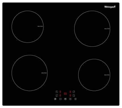 Встраиваемая варочная панель индукционная Weissgauff HF 64 B Black