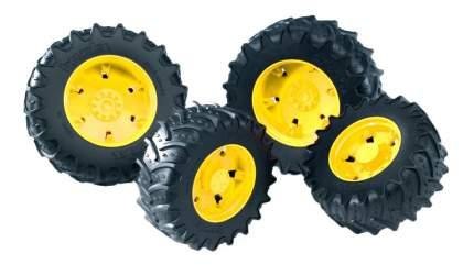 Шины Bruder Для системы сдвоенных колёс с жёлтыми дисками 4 шт.