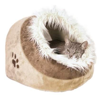 Домик для кошек TRIXIE бежевый/коричневый с рисунком 35*26*41см