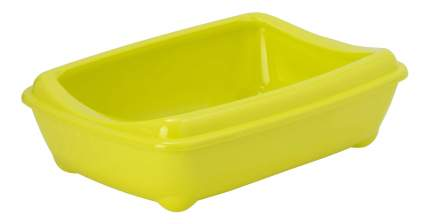Лоток для кошек MODERNA Arist-o-tray с высоким бортом, лимонный, 42 х 31 х 13 см