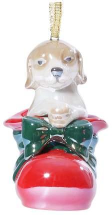 Елочная игрушка Kuchenland Собака в ботинке 7 см