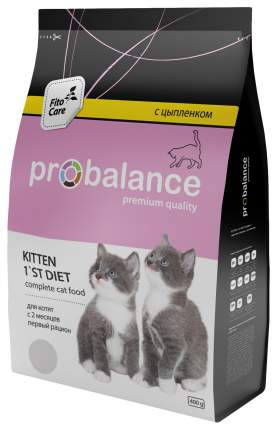 Сухой корм для котят ProBalance FitoCare 1`st Diet, цыпленок, 0,4кг