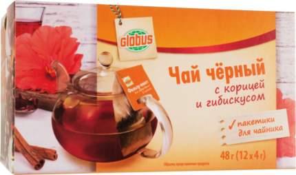 Чай черный Глобус с корицей и гибискусом 12 пакетиков