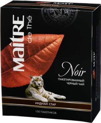 Чай черный Maitre de the индиан стар 100 пакетиков