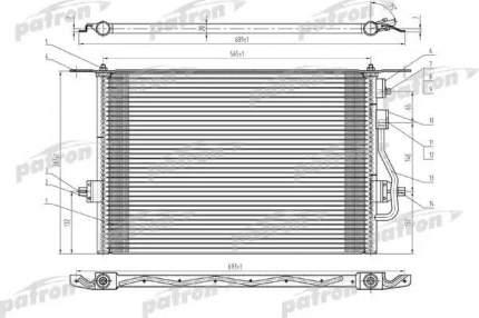 Радиатор кондиционера автомобильный PATRON PRS1068