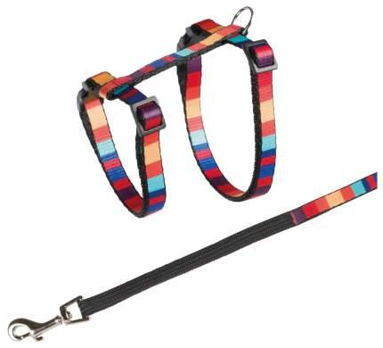 Шлейка с поводком для кошек TRIXIE Cat Harness обхват 25-45 см, разноцветный