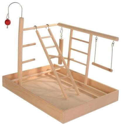Площадка для попугая Trixie Wooden Playground, размер 34x26x25см,