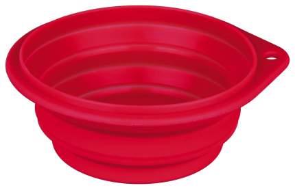 Одинарная миска для собак TRIXIE, силикон, красный, синий, 2 л
