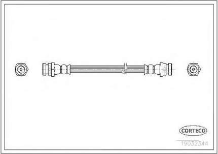 Шланг тормозной Corteco 19032344