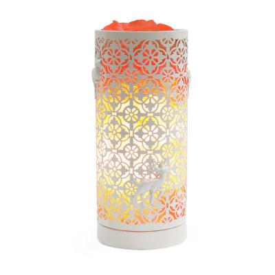 Соляная лампа камин Цилиндр Белый