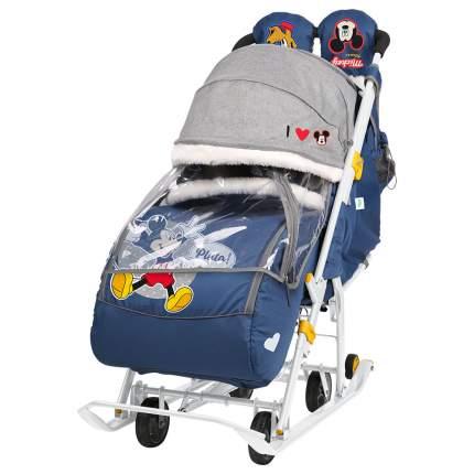 Санки-коляска Baby Care Baby2 темно-синий Микки Маус
