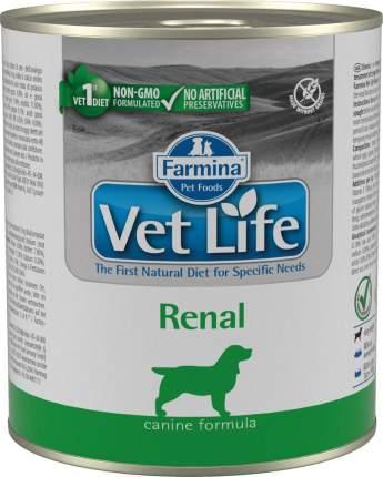 Влажный корм для собак Farmina Vet Life Renal, диета при МКБ, 300г