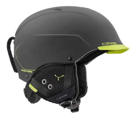 Горнолыжный шлем мужской Cebe Contest Visor Ultimate Mips 2019, темно-серый, XL