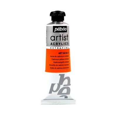 Акриловая краска Pebeo Artist Acrylics extra fine №4 желто-оранжевый кадмий 37 мл