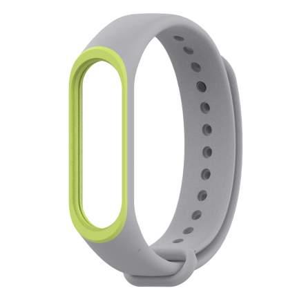 Ремешок силиконовый Mijobs Silicon Dual Color для Mi Band 3/4 Grey/Green D308