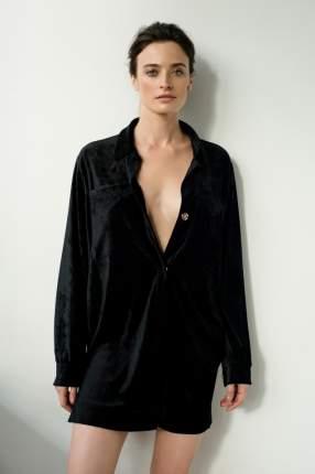 Домашнее платье женское Laete 20286 черное 2XL