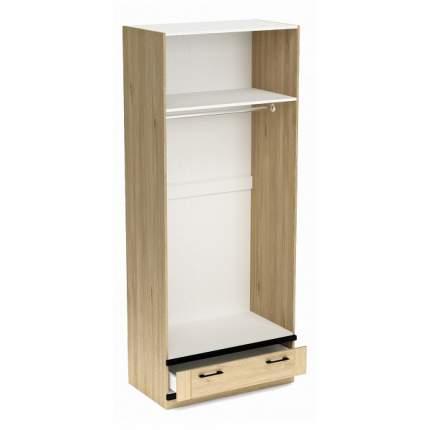 Платяной шкаф СБК Бостон SBK_11609 90x52,6x217,4, белый/гикори джексон/черный