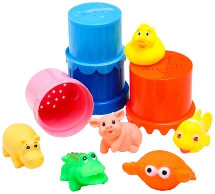 Набор для купания и игры в песке: резиновые игрушки и пирамидки Крошка Я