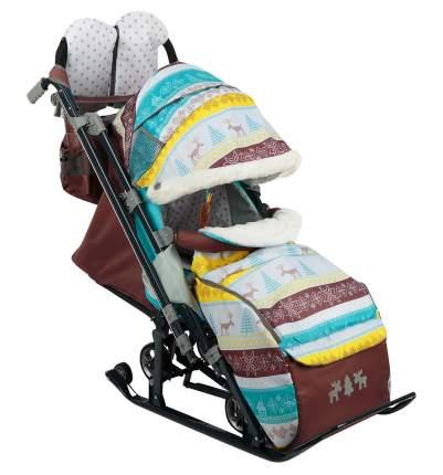 Cанки-коляска Nika Детям 7-3 Скандинавский бирюзовый