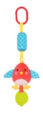 Подвеска Жирафики Птичка с колокольчиком и силиконовым прорезывателем