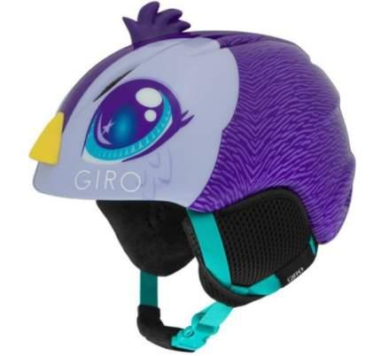 Горнолыжный шлем детский Giro Launch Plus 2019, фиолетовый, XS
