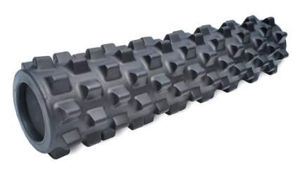 Массажный ролл RumbleRoller Black Midsize Xfirm, повышенная жесткость, чёрный, 56х14 см