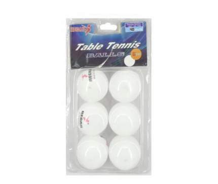 Шарики для настольного тенниса белые, 6 шт в наборе. Цена за упаковку! 18,50х10,50х4,50 см