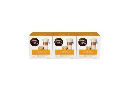 Кофе в капсулах  Nescafe Dolce Gusto Латте Макиато 3 штуки по 16 капсул