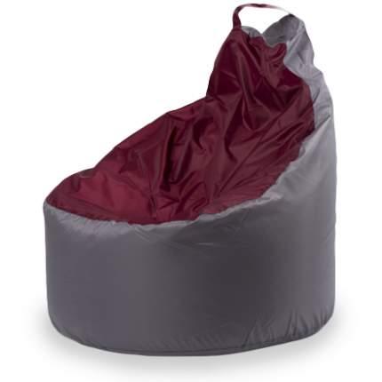 Внешний чехол Кресло-мешок комфорт  145x90x90, Оксфорд Серый и бордовый