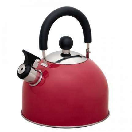Чайник для плиты Катунь Кухня КТ-120R, 1,8л, со свистком, малиновый