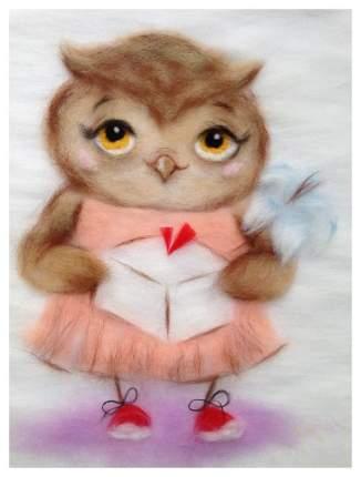 Картина из шерсти TOYZY TZ-P032 Сова с подарком