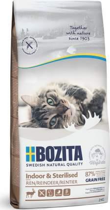Сухой корм Bozita Indoor & Sterilized Grain free Reindeer для кошек 2 кг, Олень