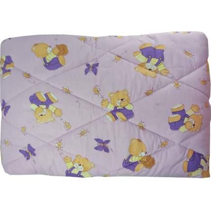 Одеяло стеганое Папитто шерсть 110*140 Сиреневый 0009