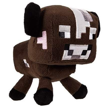 Мягкая игрушка Minecraft Baby cow коричневый 18 см