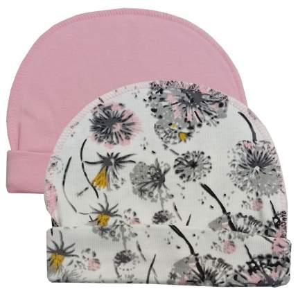 Комплект шапок 2 шт. Папитто розовый р.36 37-032