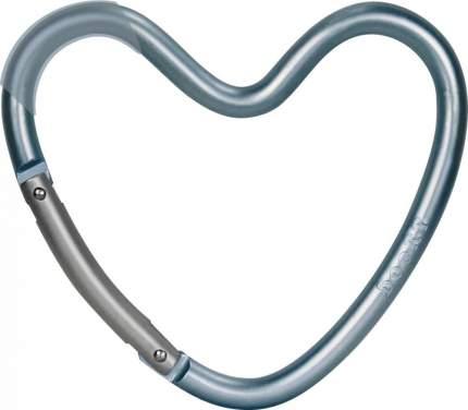Крепление Dooky-Xplorys для сумок Dooky Heart Hook Blue Matt, матовый голубой