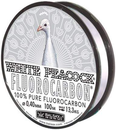 Леска флюрокарбоновая Balsax White Peacock Fluorocarbon Box 0,4 мм, 100 м, 13,3 кг