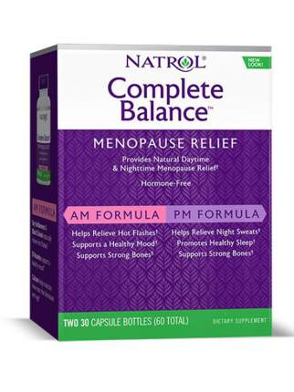 Natrol Complete Balance for menopause AM&PM formula 30+30 капсул