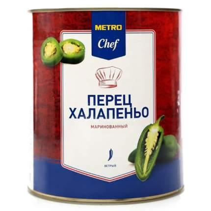 Перец Chef халапеньо зеленый резаный маринованный 2900 г