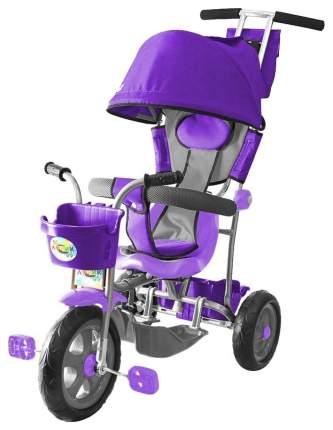 Велосипед трехколесный Galaxy Лучик с капюшоном фиолетовый