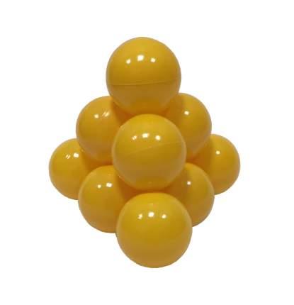 Шарики в наборе для игрового бассейна 50 шт, диам 7см, желтые