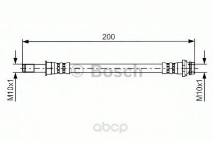Шланг тормозной Bosch 1987481443