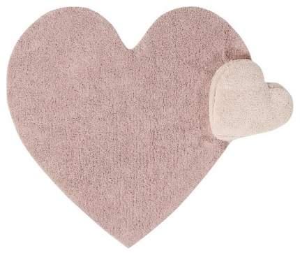 Ковер Lorena Canals сердце с подушкой розовое 160*180