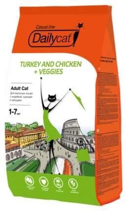 Сухой корм для кошек Dailycat Casual Line, курица, индейка, овощи, 10кг