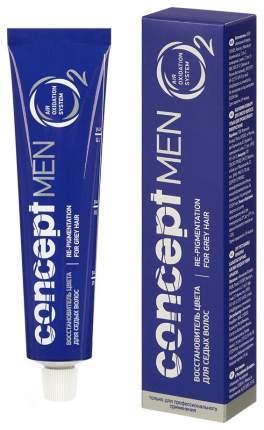 Краска для волос Concept Men Recolor Cream for Grey Hair Темно-русый 60 мл